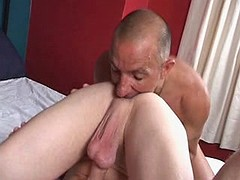 Lustful hunk attracted to to have his beafy pecker sucked