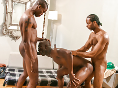 Construction workers Scorpio & Tone lay Astengo's rigid ass
