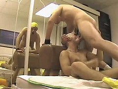 Amateur but smokin' horny male accepts pushed 1st time