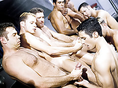 The initiation turns to a sexual free-for-all for everyone!