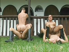 Severe cowboy loves group anal fucking in 6 movie
