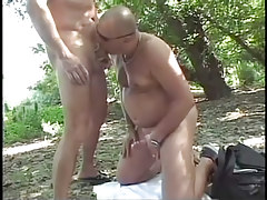 Mature gay fucking in the bright forest in 2 episode