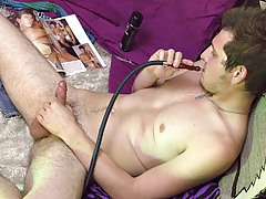 Chilling Out And Beating His Meat - Wyatt Blaze