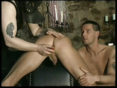 Fetish leather twinks in black room in 1 episode