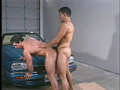 Gay guy muscle studs have clammy anal in garage in 5 episode