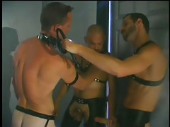 Gay chamber fucking scene with leather in 1 clip scene