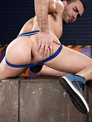 Tatted stud Colton Grey has gone down town in the ebony alleys to trek for ass, and he's going down on the ebony and gorgeous Marko Carbo. Sittin