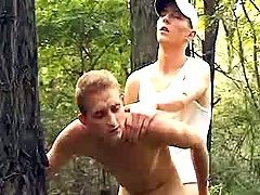 Curious dick-holders try anal copulation in forest