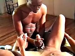 Lustful black fellows fuck brains out