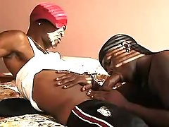 Narrow black ass plugged real intense
