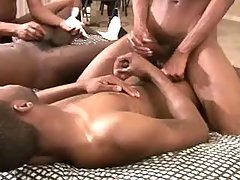 Fleshy ebony men desire groupsex