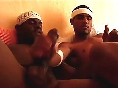 Nasty black gay guys assfucking heavily