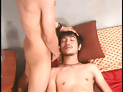 Asian boyish sub attains sticky facial