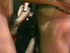 Nasty ebony gays ass-drilling heavily