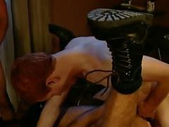 Redhead gay fucks lewd dilf