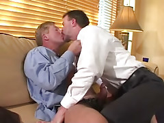 Horny mature fruits kiss and make fellatio