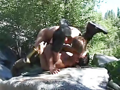 Muscle fruit boys intense fuck by river