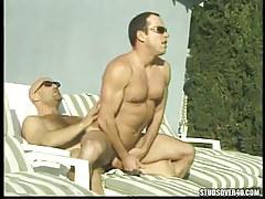 Mature faggot rides rod of bear faggot outdoor